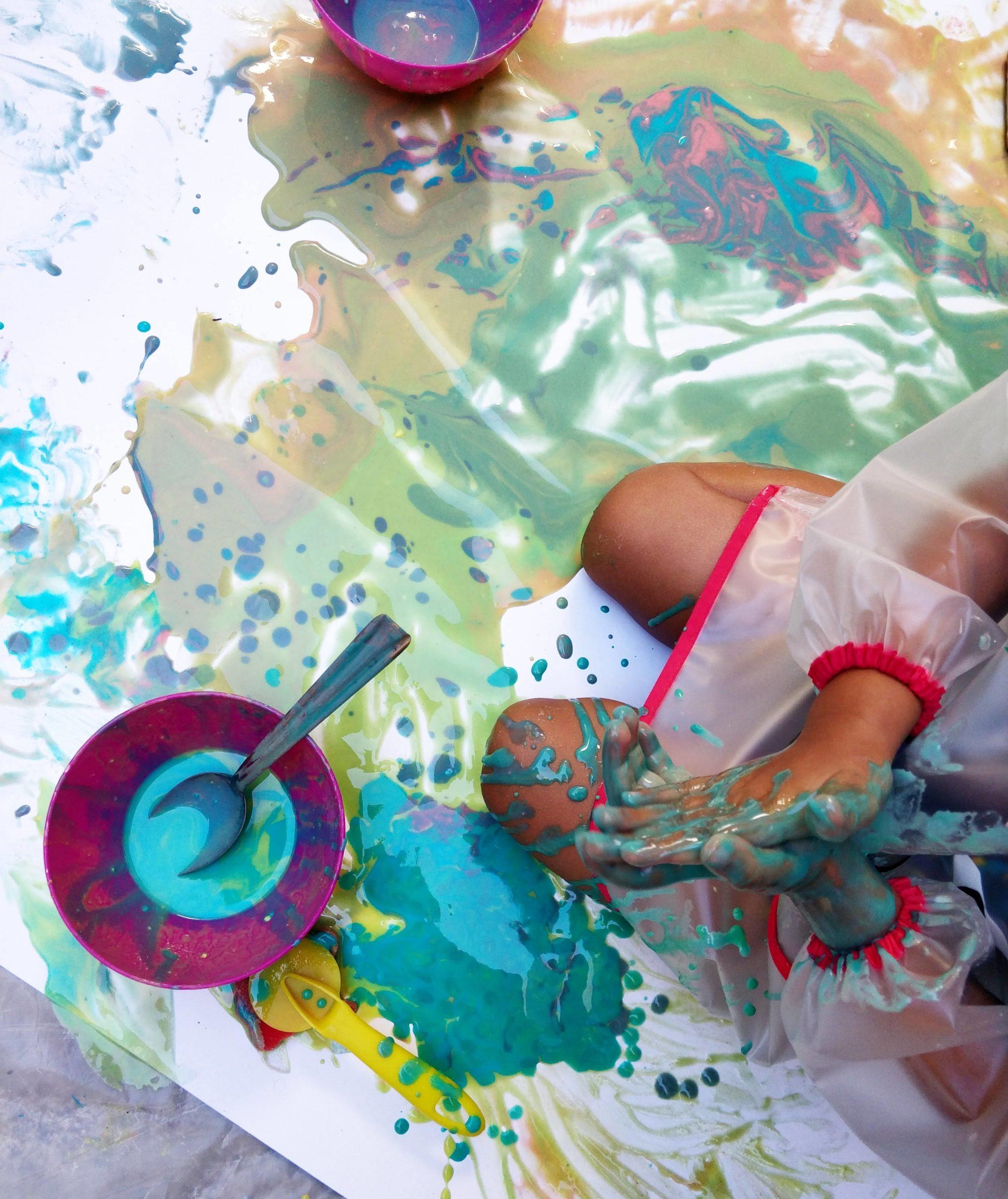 22/10 - atelier de peinture bébé à la MPT 3 Lucs, 13012 – 9H30